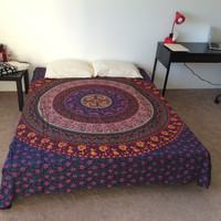 HOUSEWARMING GIFT VALENTINE'S day Gift Mandala Fringed Tapestry Indian Bedding
