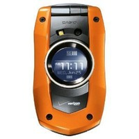 Verizon Casio GzOne Boulder No Contract Water Resistant Rugged Phone Orange