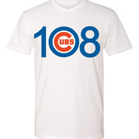 108 CUBS win! tshirt  Chicago Cubs World Series