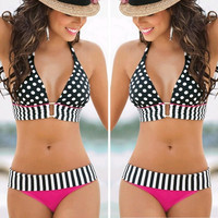 Sexy Women's Swimwear Bikini Set Bandeau Push-Up Padded Bra Swimsuit Beachwear = 1946043524