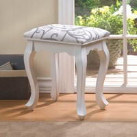 Beautiful White Willow Foot Stool
