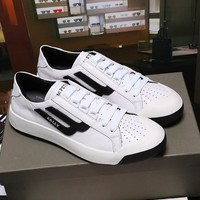Bally The New Competition Men's Deer Leather Trainer In White Black Sneakers Shoes - Best Online Sale