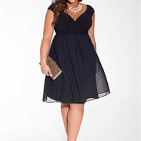 Adelle Dress in Noir Dot