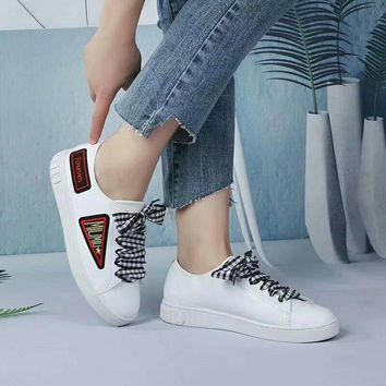 Prada Miu Miu Nappa Leather White Sneakers - Best Deal Online