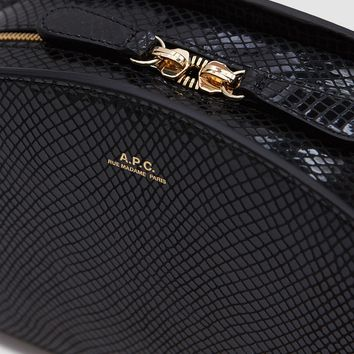 A.P.C. / Sac Demi-Lune in Black Lizzard