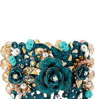 PATINA FLOWER STRETCH BRACELET