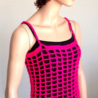 Crochet Pink Summer Tunic