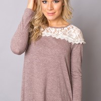 Close For Comfort Lace Top in Rose
