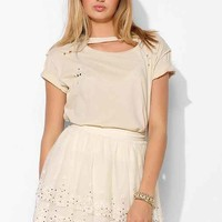 Kimchi Blue Sparkle Tiered Mini Skirt- Cream