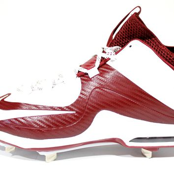 Nike Men's Air Max MVP Elite 2 3/4 Metal White/Team Red Baseball Cleats