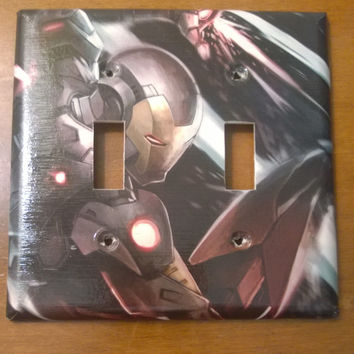 Iron Man double toggle comic book light switch cover