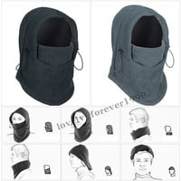 3in1 Warm Full Face Cover Winter Ski Mask Beanie Police Swat CS Hat Outdoor Sports Camping Hiking Motorcycle Windproof