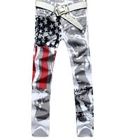 American flag denim jeans