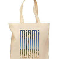 Miami Beach View Mirage Grocery Tote Bag