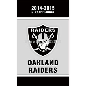 2014-2015 2 Year Planner Banner Oakland Raiders Flag Football World Series 3ft X 5ft Helmet Shield Oakland Raiders Banners