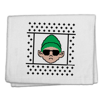 "Cool Elf Christmas Sweater 11""x18"" Dish Fingertip Towel"