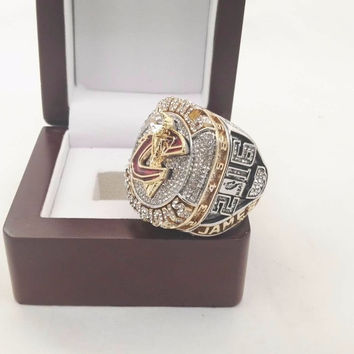 Drop Shiping Good Quality  2016 Cleveland Cavaliers Replica Basketball gold plated Championship