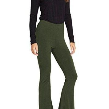 Poshsquare Womens Jersey Knit Bell Bottom High Waist Flared Palazzo Yoga Pants USA