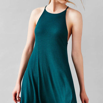 Silence + Noise Ribbed Swing Dress - Urban Outfitters