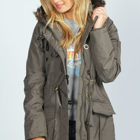 Lucy Padded Parka With Fur Trim Hood