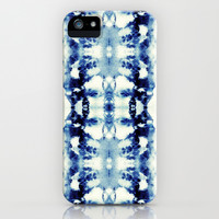 Tie Dye Blues iPhone & iPod Case by Nina May