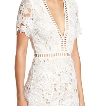 Missguided Ladder Stitch Lace Romper | Nordstrom