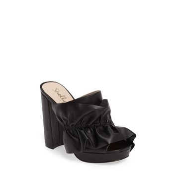 Shellys London Women's Black Delphine Platform Mules/Slides