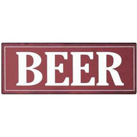 "Casual Country Metal ""Beer"" Sign Wall Decor, 15""L x 5-3/4""H"