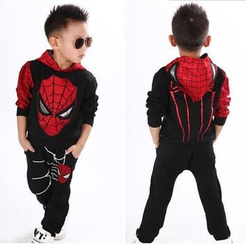 Marvel Comic Classic Spiderman Child Costume Kids boys fantasia Halloween fantasy fancy superhero carnival baby party dress