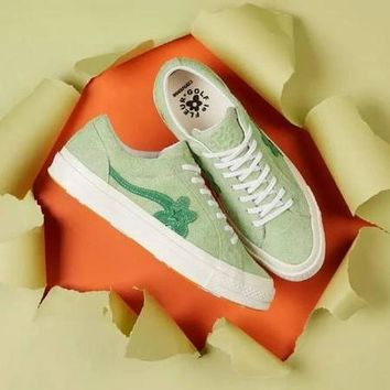 Creator x Converse One Star Ox Golf Le Fleur TTC Canvas Shoes White - Best Deal Online
