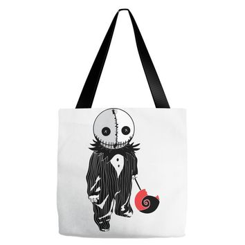 creepy doll trick or treat Tote Bags