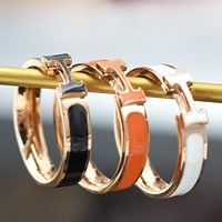 Hermes New fashion H letter ring women accessories
