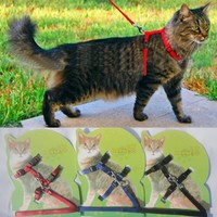 Cat Harness And Leash Hot Sale 4 Colors Nylon Products For Animals Adjustable Pet Traction Harness Belt Cat Kitten Halter Collar