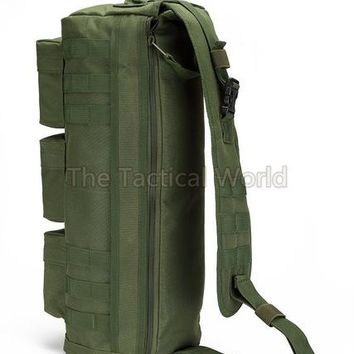 Sports gym bag Tactical Airsoft MOLLE Backpack Assault Go Bag Shoulder Sling Military Paintball Tan Hiking Camping Pack Messenger Bag Tote Bag KO_5_1