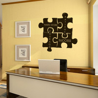 Vinyl Wall Decal Sticker Motivational Puzzle Pieces #1114
