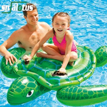 Summer Giant Swan Dolphin Shark Sea Turtle Crocodile 60 inch 1.5m Inflatable Ride-On Pool Toy Float Swan Inflatable Swim Ring