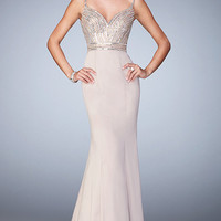 La Femme Gown with Sweetheart Neckline and Beaded Top