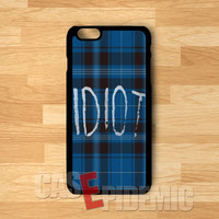 blue plaid idiot michael clifford-1nny for iPhone 4/4S/5/5S/5C/6/ 6+,samsung S3/S4/S5,S6 Regular,samsung note 3/4