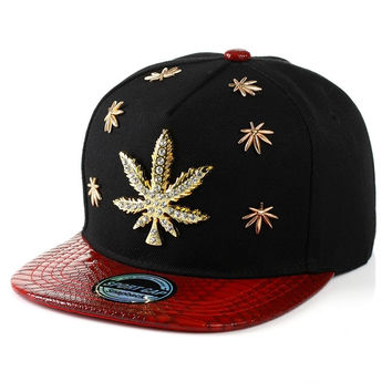 Swag Bones Weed Snapback Caps Weeds Snap Back Hats Hip Hop Baseball Cap skateboa