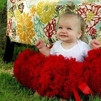 Sweetheart Pettiskirt Red by DreamSpunKids on Etsy