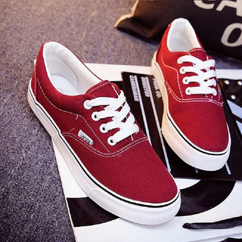 Vans Fashion Women Casual Shoes Woman Skateboard Canvas Shoes Female Flat Basket Black Trainers Tenis Feminino SIZE 35-43