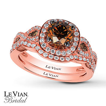 Le Vian Bridal Set 1 1/2 carats tw 14K Strawberry Gold