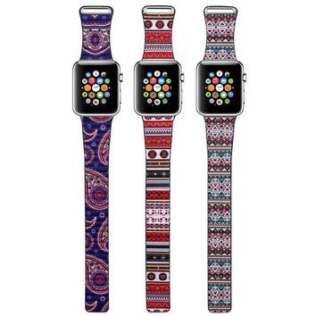 DCCKWQA Fashion Bohemian Leather Loop Watchband for iWatch bands Strap Magnetic Stainless Steel Buckle for Apple Watch 38mm 42mm