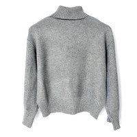 TAYLOR Turtleneck Sweater - Grey
