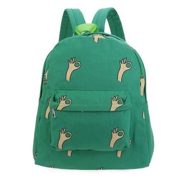 Cool Fun Green Hand Backpack 20-35litre