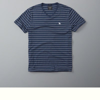 Striped Icon Pocket Tee