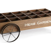 "31"" Herb Cart, Brown, Gardening Tools & Markers"