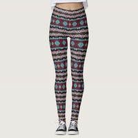 Bohemian ornament in ethno-style, Aztec Leggings