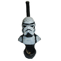 Storm Trooper Bust Wooden Hand Carved and Painted Dry Tobacco Pipe
