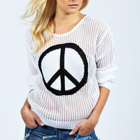 Evelyn Peace Knit Jumper